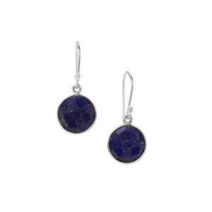 Sar-i-Sang  Lapis Lazuli Earrings in Sterling Silver 13cts