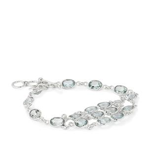 27ct Blue Topaz Sterling Silver Aryonna Bracelet
