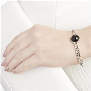 17.38ct Black Star Diopside Sterling Silver Tookalon Bracelet