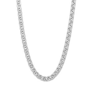 """18"""" Sterling Silver Dettaglio Diamond Cut Loose Spiga Chain 3.95g"""
