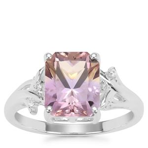 Anahi Ametrine Ring with White Zircon in Sterling Silver 2.99cts