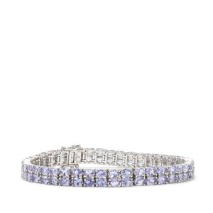 Tanzanite Bracelet in Sterling Silver 14.34cts