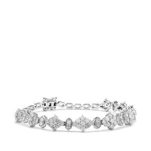 Diamond Bracelet in Sterling Silver 4.10ct