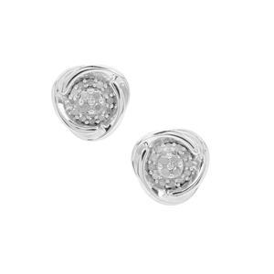 Diamond Earrings in Sterling Silver 0.34ct