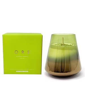 Gem Auras ORE August Birthstone Candle with Peridot Gemstones ATGW 20cts