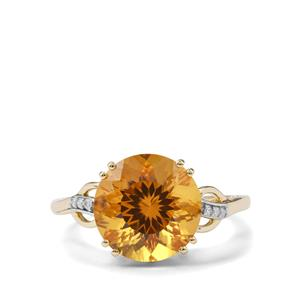 Marialite & Diamond 9K Gold Ring ATGW 4.46cts