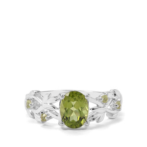 1.55cts Red Dragon Peridot Sterling Silver Ring