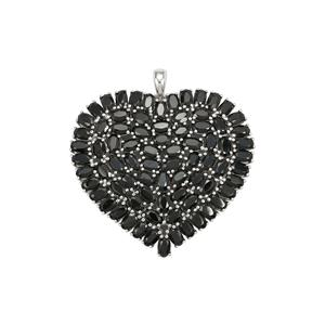 Black Spinel Pendant in Sterling Silver 25.34cts