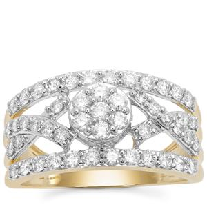 Argyle Diamond Ring in 9K Gold 1cts