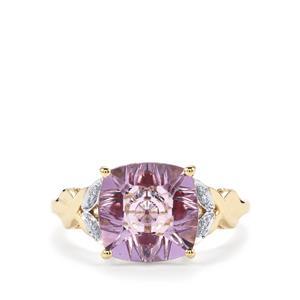 Lehrer KaleidosCut Rose De France Amethyst, Malagasy Ruby & Diamond 10K Gold Ring ATGW 3.18cts (F)