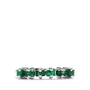 Luhlaza Emerald Ring in Sterling Silver 0.56ct