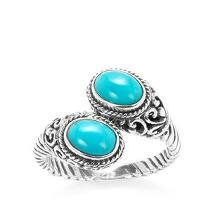 Samuel B Sleeping Beauty Turquoise Sterling Silver Ring 1.6ct
