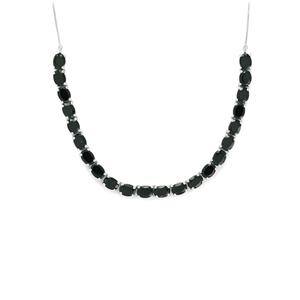 33.82ct Black Spinel Sterling Silver Necklace