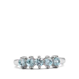 1.02ct Ratanakiri Blue Zircon Sterling Silver Ring