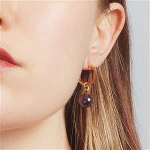 Molte Mini Hex Hoop Earrings in Gold Plated Silver
