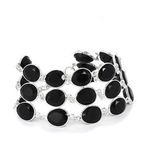 78.63ct Black Onyx Sterling Silver Aryonna Bracelet