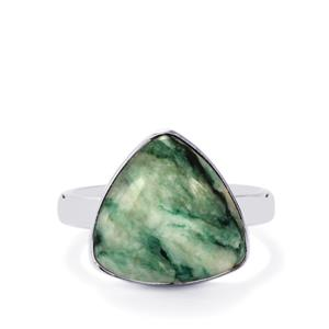 Siberian Mariposite Ring in Sterling Silver 8.89cts