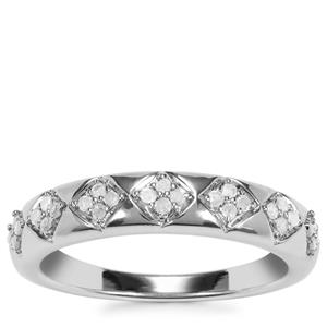 Diamond Ring in Sterling Silver 0.21ct