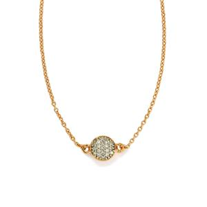 1/20ct Diamond Rose Gold Plated Sterling Silver Necklace