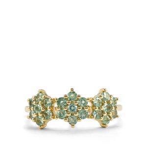 Alexandrite Ring in 10K Gold 0.82ct