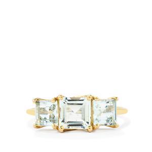 2ct Pedra Azul Aquamarine 10K Gold Ring