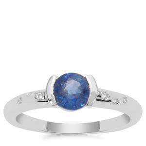 Nilamani Ring with White Zircon in Sterling Silver 1.17cts