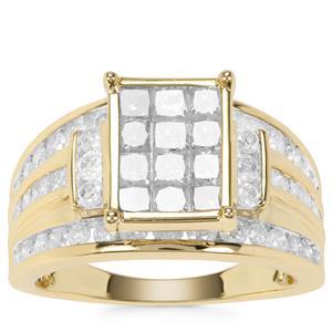 Diamond Ring in 9K Gold 2.20ct