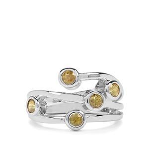 1.02ct Ambanja Demantoid Garnet Sterling Silver Ring