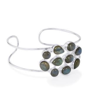 Labradorite Bangle in Sterling Silver 24.70cts