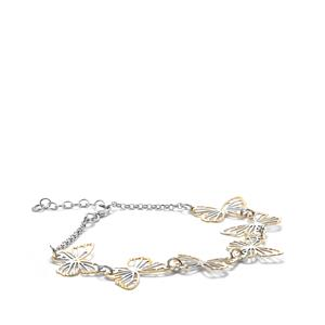 Two Tone Sterling Silver Bayeux Bracelet 3.31g