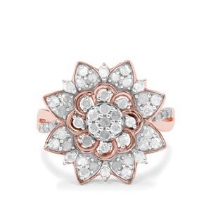 1ct Diamond Rose Midas Flower Design Ring