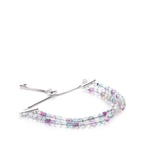 35ct Multi-Colour Fluorite Sterling Silver Slider Bracelet