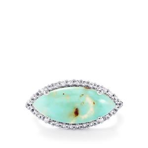 Aquaprase™ Ring with White Topaz in Sterling Silver 5.34cts