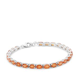 Mandarin Garnet Bracelet in Sterling Silver 17.87cts