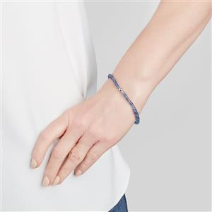 Daha Kyanite Graduated Stretchable Bead Bracelet with Silver Ball 36.50cts