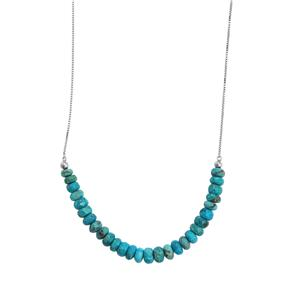 24.50ct Sleeping Beauty Turquoise Sterling Silver Slider Necklace