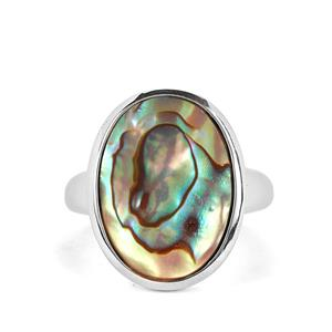 Paua Sterling Silver Ring (18x13mm)