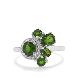 1.95ct Chrome Diopside Sterling Silver Ring