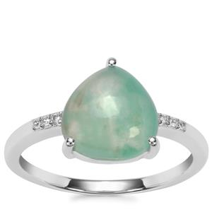 Aquaprase™ Ring with White Zircon in Sterling Silver 3.10cts