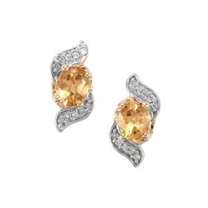 Ouro Preto Imperial Topaz & Diamond 10K Gold Earrings ATGW 0.83cts