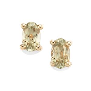 0.47ct Csarite® 10K Gold Earrings
