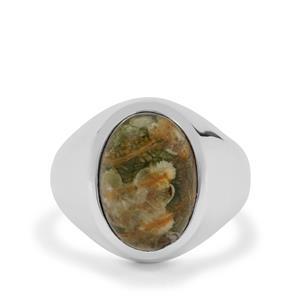 6ct Rainforest Jasper Sterling Silver Ring