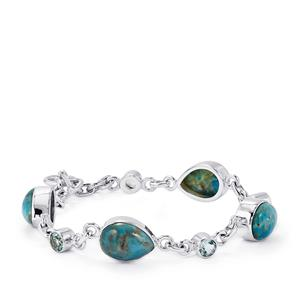 Fort-Dauphin Apatite Bracelet with Sky Blue Topaz in Sterling Silver 29.40cts