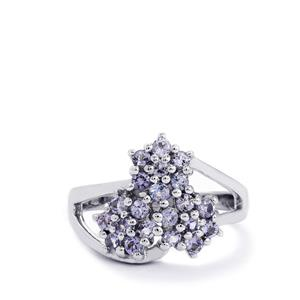 0.90ct Tanzanite Sterling Silver Ring