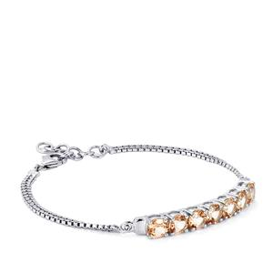 6 91ct Galileia Topaz Sterling Silver Bracelet