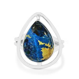 7.79ct Cyber Web Chrysocolla Sterling Silver Aryonna Ring