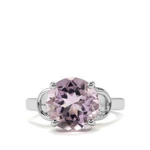 Rose De France Amethyst Ring  in Sterling Silver 5ctsq