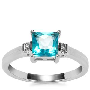 Batalha Topaz Ring with White Topaz in Sterling Silver 1.40cts