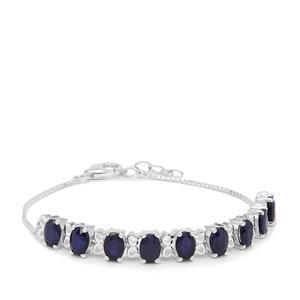 9.35ct Madagascan Blue Sapphire Sterling Silver Bracelet
