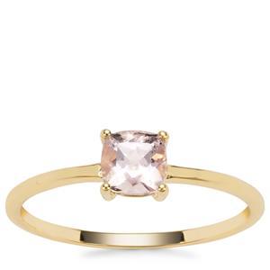 Alto Ligonha Morganite Ring in 9K Gold 0.48ct